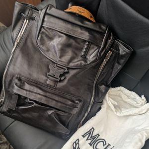 MCM Killian Medium Leather Logo Backpack